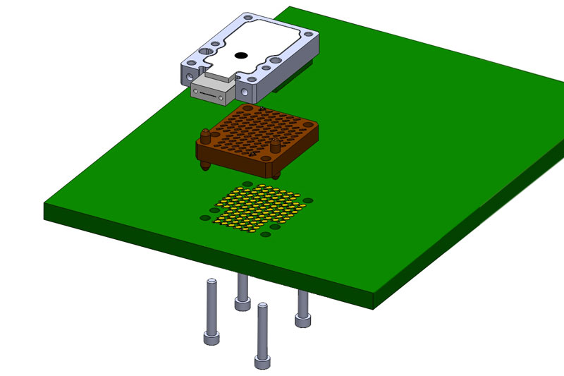 Exploded view of the board assembly