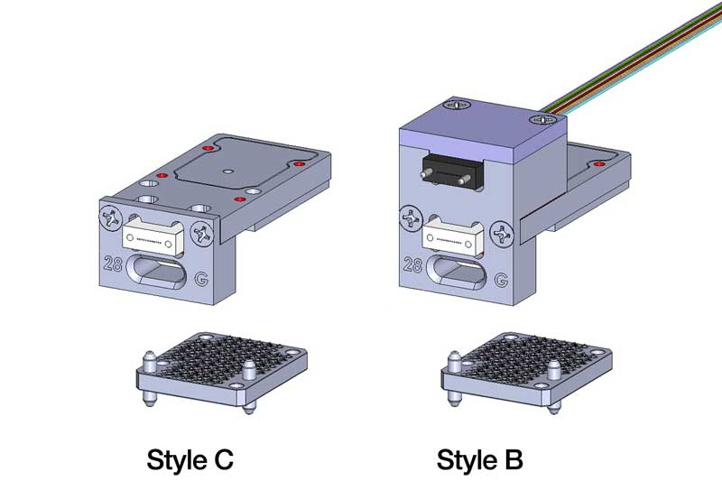 Plug-in module connector styles all shown with 4TRX transceiver.